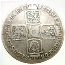 1758 shilling of George II. P&P Group 1 (£14+VAT for the first lot and £1+VAT for subsequent lots)
