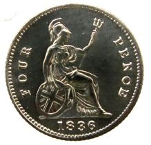 1836 groat of William IV. P&P Group 1 (£14+VAT for the first lot and £1+VAT for subsequent lots)
