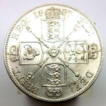 1887 double florin of Queen Victoria. P&P Group 1 (£14+VAT for the first lot and £1+VAT for