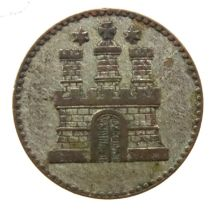 1855 Bavarian States silver 1 Dreiling. P&P Group 1 (£14+VAT for the first lot and £1+VAT for