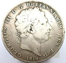 1819 crown of George III. P&P Group 1 (£14+VAT for the first lot and £1+VAT for subsequent lots)