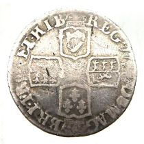 Queen Anne sixpence, Edinburgh mint. P&P Group 1 (£14+VAT for the first lot and £1+VAT for