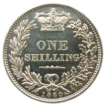 1880 shilling of Queen Victoria. P&P Group 1 (£14+VAT for the first lot and £1+VAT for subsequent