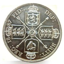 1887 florin of Queen Victoria. P&P Group 1 (£14+VAT for the first lot and £1+VAT for subsequent