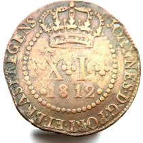 1812 40 Reis, Brazil monarquia of D Joao VI. P&P Group 1 (£14+VAT for the first lot and £1+VAT for