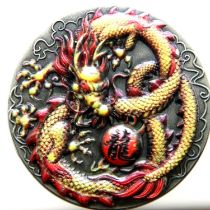 2020 Tuvali 2oz silver Round with dragon design. P&P Group 1 (£14+VAT for the first lot and £1+VAT