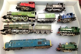 Eight OO scale locomotives, various makes and types, all require attention, spares or repair. P&P