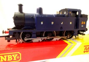 Hornby R2882 Class 3F, S.D.J.R. Blue 24 in excellent condition, box fair, no detail pack or