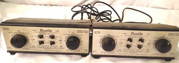 Two H&M Duette controllers, used condition, some casing corrosion/flaking paint. P&P Group 2 (£18+