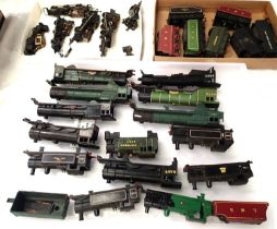 Selection of loco bodies, x14 tenders, x7 and chassis x5, various makes and types, some damages,