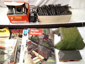 Hornby R905 controller, and another controller, selection of steel track and seven points,