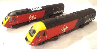 Lima 2 car H.S.T. refinished in Virgin Livery, 43610, in fair condition, unboxed. P&P Group 1 (£14+