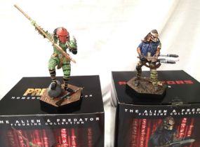 Eaglemoss Alien and Predator figurine collection Homeworld Predator and Noland both in excellent