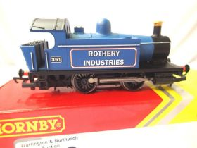 Hornby R3359 0.4.0. Tank, Blue 391, Rothery Industries. Excellent condition, boxed, no paperwork.