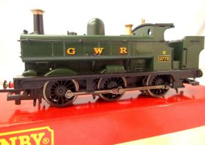Hornby 1/2 Cab Pannier Tank 2773, G.W.R. Green. In excellent condition, chip removed (present in
