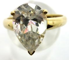 14ct gold stone set solitaire ring, size S, 1.7g. P&P Group 1 (£14+VAT for the first lot and