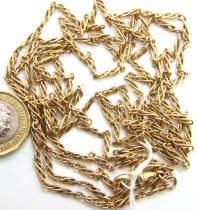 15ct gold guard chain twist link, L: 144 cm, 32.3g. No damage, defects or repairs. Hallmarked to