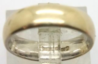 18ct gold band ring, size L, 5.2g. P&P Group 1 (£14+VAT for the first lot and £1+VAT for