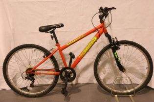 14 inch frame hard tail integer mountain bike 18 speed. Not available for in-house P&P, contact Paul