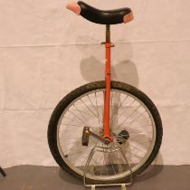 Adult unicycle. Not available for in-house P&P, contact Paul O'Hea at Mailboxes on 01925 659133