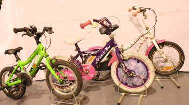 Three childrens bikes to include Ridgeback MX14 terrain. Not available for in-house P&P, contact