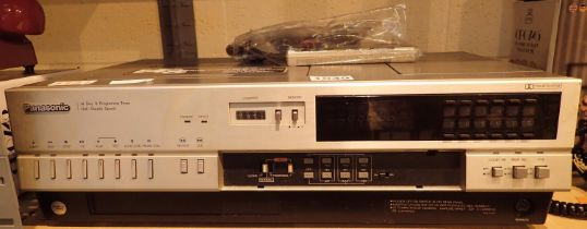 Panasonic top loading video cassette recorder/player model NB-7000-18. Not available for in-house