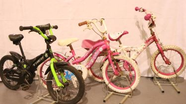 Three childrens bikes to include Trek series 16. Not available for in-house P&P, contact Paul O'