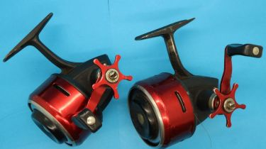 Two ABU 505 closed face fishing reels. P&P Group 2 (£18+VAT for the first lot and £3+VAT for