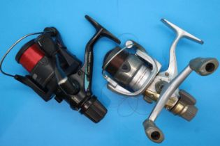 Two Shimano fishing reels 3500 MRE and Sahara 1000. P&P Group 2 (£18+VAT for the first lot and £3+
