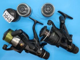 Two Shimano baitrunner fishing reels, models 5000RE and 5010. P&P Group 2 (£18+VAT for the first lot