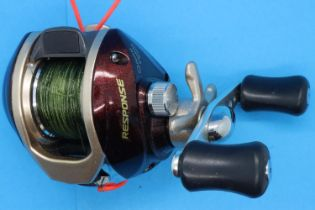 Quantum Response RE461CX fishing reel. P&P Group 2 (£18+VAT for the first lot and £3+VAT for