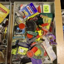 Box of mixed fishing tackle including, weights and hooks. P&P Group 3 (£25+VAT for the first lot and