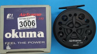 Boxed Okuma Airframe AF 7/9 fly fishing reel. P&P Group 2 (£18+VAT for the first lot and £3+VAT