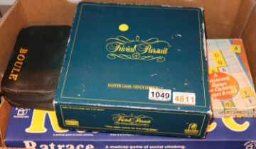 Collection of mixed board games and a cased set of boules. Not available for in-house P&P, contact