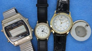 Three wristwatches including a Limit example. P&P Group 1 (£14+VAT for the first lot and £1+VAT