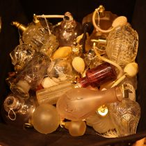 Box of mixed empty perfume bottles. Not available for in-house P&P, contact Paul O'Hea at
