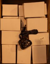 24 x 6V 0.3A power supplies, boxed, new old stock. Not available for in-house P&P, contact Paul O'