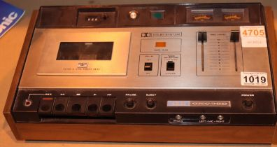 Akai GXC 38D Dolby System cassette recorder. Not available for in-house P&P, contact Paul O'Hea at