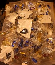 A tray lot of novelty key rings. Not available for in-house P&P, contact Paul O'Hea at Mailboxes