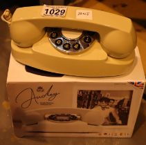 Ivory GPO Audrey push button telephone is compatible with modern telephone banking and any
