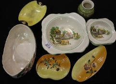 Mixed ceramics including Maling. Not available for in-house P&P, contact Paul O'Hea at Mailboxes
