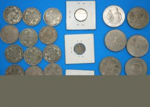 Small collection of silver coins, Queen Victoria - Elizabeth II. P&P Group 1 (£14+VAT for the