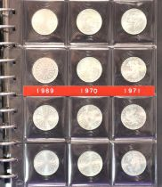 1972 Munich Olympics: A collection of twenty-four special edition 10 Mark coins, various mints,