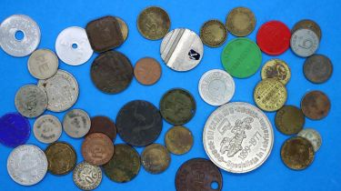 18th, 19th and 20th century trade tokens, mostly British. P&P Group 1 (£14+VAT for the first lot and