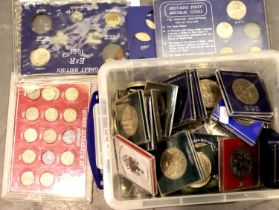 20th century crowns, commemoratives and part coin sets. Not available for in-house P&P, contact Paul
