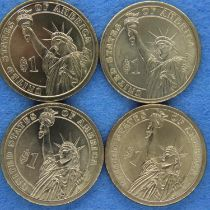 Four USA Presidential commemorative dollars. P&P Group 1 (£14+VAT for the first lot and £1+VAT for