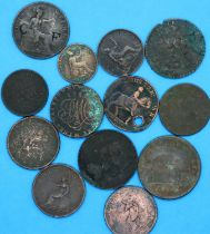 Copper coins and tokens of the 18th and 19th centuries. P&P Group 1 (£14+VAT for the first lot