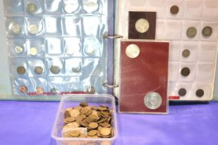 Americas: a part filled album of coins, with Canadian and Mexican examples, together with two
