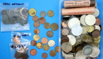 Collection of German post-war coins including some UNC in rolls. P&P Group 1 (£14+VAT for the