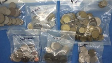 Coins of Europe; mostly 20th century, including Portugal, Spain, France, Holland and others. P&P